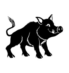 cute wild boar vector image