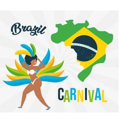 dancer brazil carnival vector image