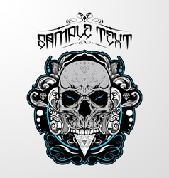 Decorative Skull vector image