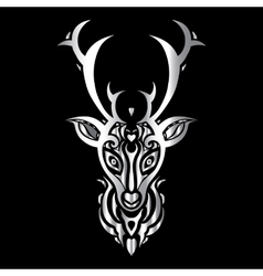 Deer head Polynesian tattoo style vector