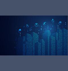 digitalbuilding2 vector image