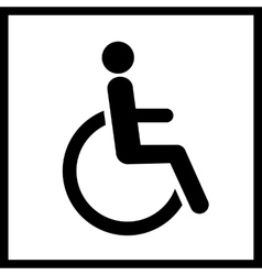 Disability icon isolated vector