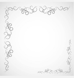 Fancy frame border with decorative ornament vector