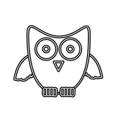 figure sticker owl icon vector image