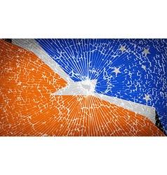 Flags of Tierra del Fuego Province with broken vector