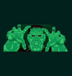 frankenstein halloween party vector image