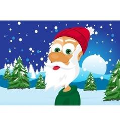 Funny skinny santa claus vector