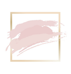 gold and pink frame vector image