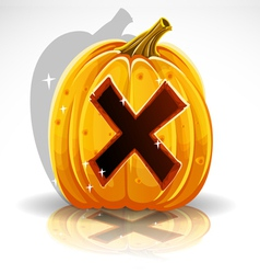 Halloween Pumpkin X vector image