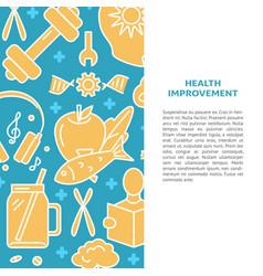 Health improvement concept background in line vector