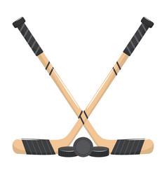 Ice hockey elements cartoon vector