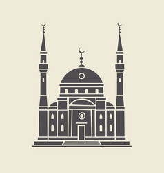 icon or stencil traditional muslim mosque vector image