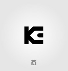initial letter k e real estate house logo icon vector image