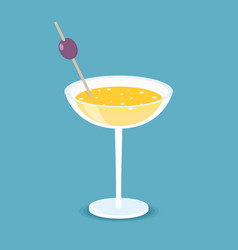 isometric cocktail in flat style vector image