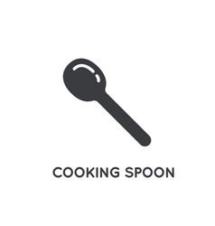 kitchen wood steel or plastic spatula spoon glyph vector image