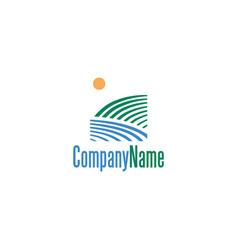 Landscape logo design vector