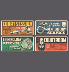 law judge justice court legal lawyer courtroom vector image
