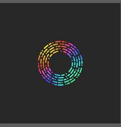 Letter o logo monogram dash and dot broken lines vector