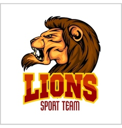 Lion head mascot - for sport vector image
