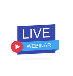 Live webinar button icon emblem vector