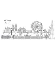london skyline line art 7 vector image