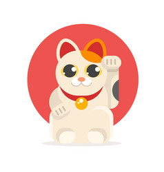 lucky cat maneki neko vector image