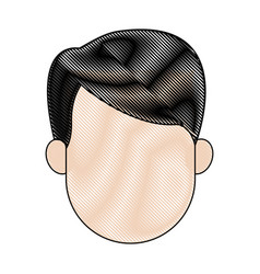 man profile cartoon faceless person character vector image