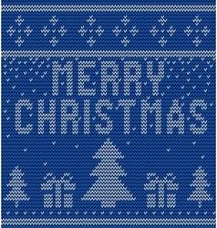 Merry Christmas Scandinavian style seamless vector