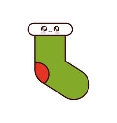 merry christmas socks icon vector image