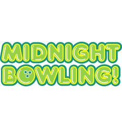 Midnight bowling vector