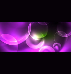 neon glowing circles abstract background vector image