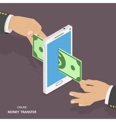 Online money transfer isometric vector image