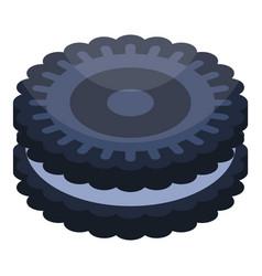 Oreo cookie icon isometric style vector