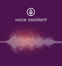 Personal assistant and voice recognition concept vector