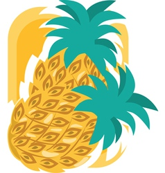 Pineapples vector