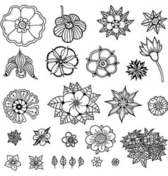 Plant Icon Set vector image