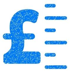 Pound Value Grainy Texture Icon vector