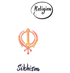 Religious sign-sikhism vector