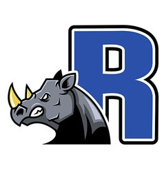 Rhino Initial vector image