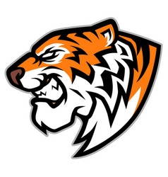 roaring tiger head mascot vector image