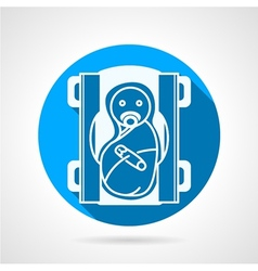 Round blue icon for newborn vector
