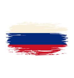 russian flag brush grunge background vector image