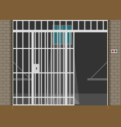 Scene with prison room flat vector