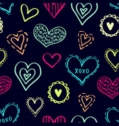 seamless hearts pattern-03 vector image
