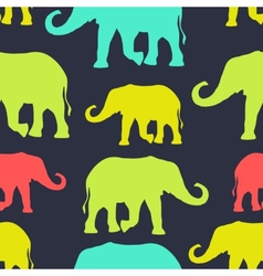 Seamless pattern with colorful silhouette vector image