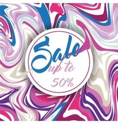 Seasonal Sale Banner Poster Retro Flyer vector image
