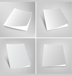 Set of blank magazines covers vector