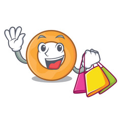 Shopping onion ring character cartoon vector