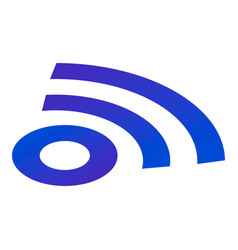 sign wifi icon isometric style vector image