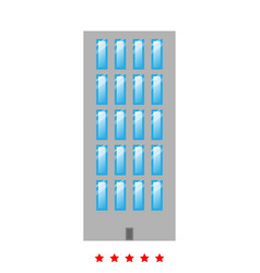 sky tower building icon flat style vector image